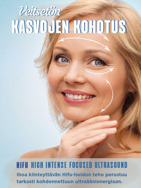 Kausijuliste HIFU- Veitsetön kasvojenkohotus