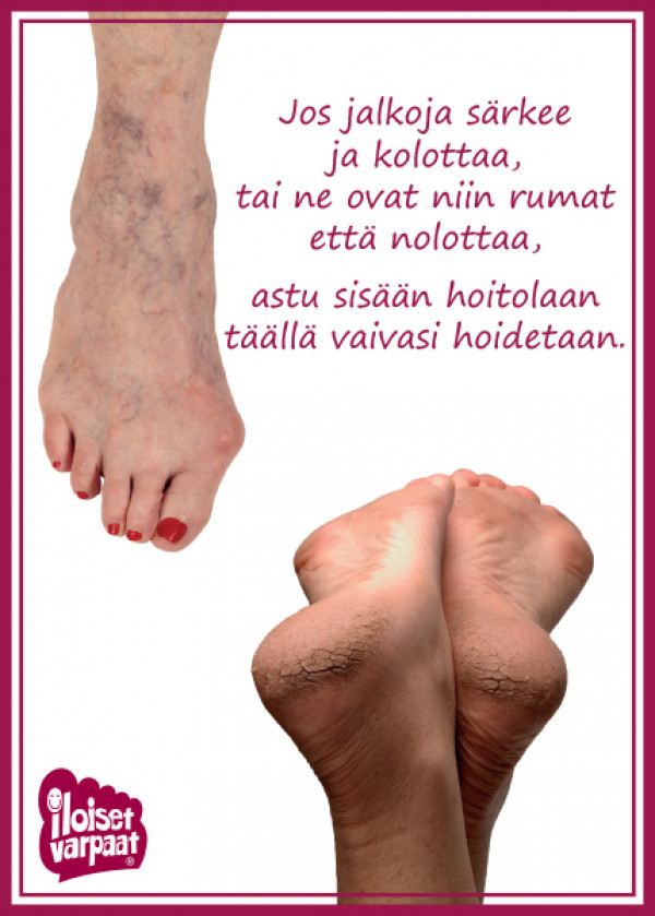 Kausijuliste Jos jalkoja särkee, koko 50x70 cm