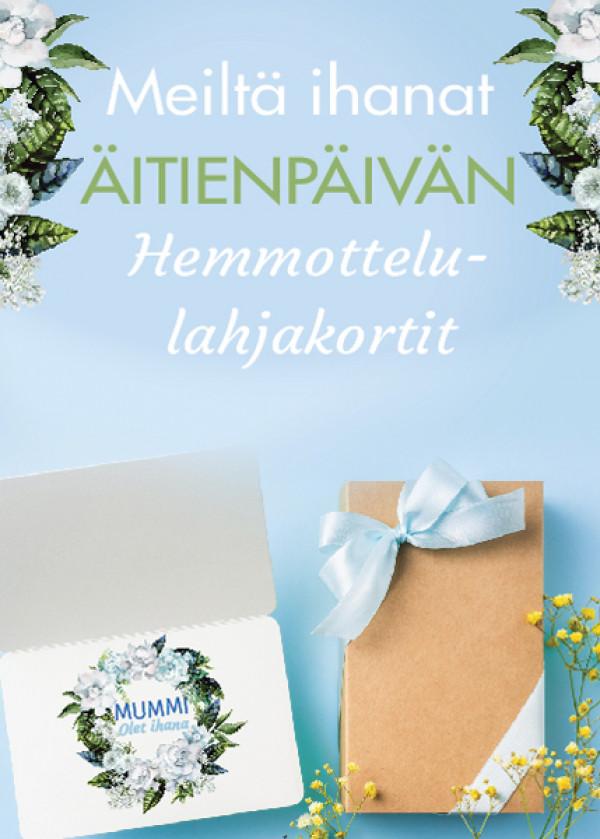 Äitienpäiväjuliste Hemmottele äitiä