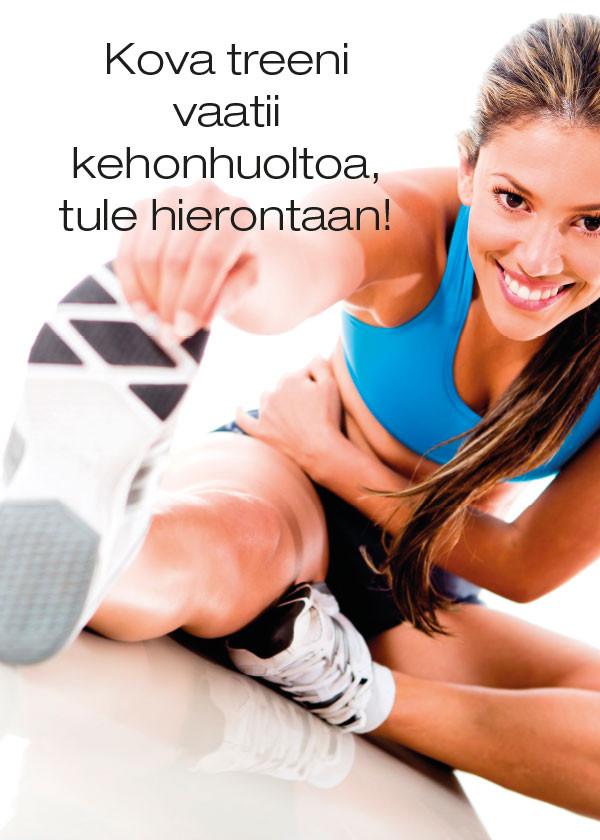 Kausijuliste Kova treeni vaatii kehonhuoltoa