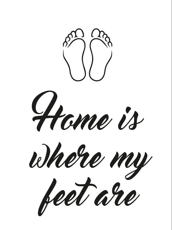 Juliste Home is where my feet are