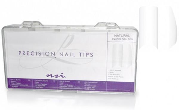 NSI Natural Precion Nail Tips 200kpl/ltk