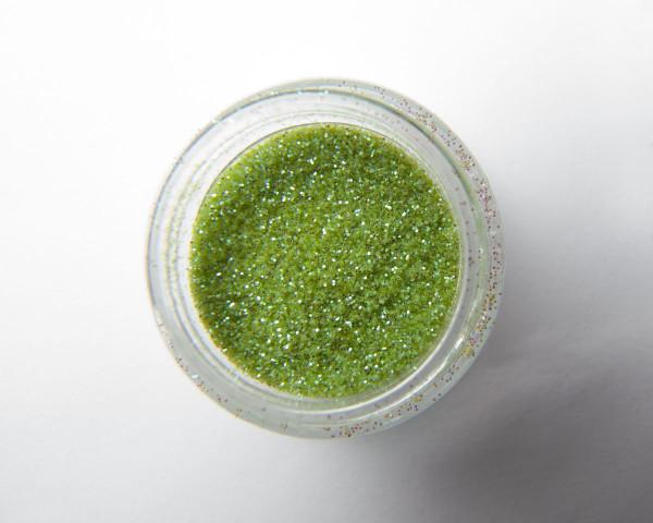 Vaalean vihreä glitter