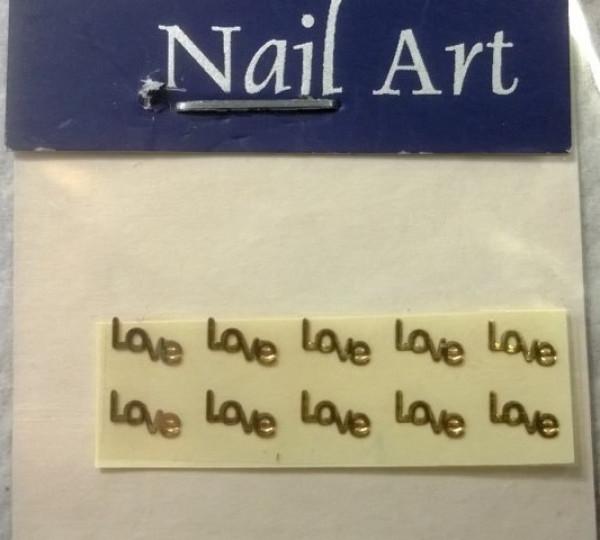 2D Foliotarra, kulta- Love, pieni