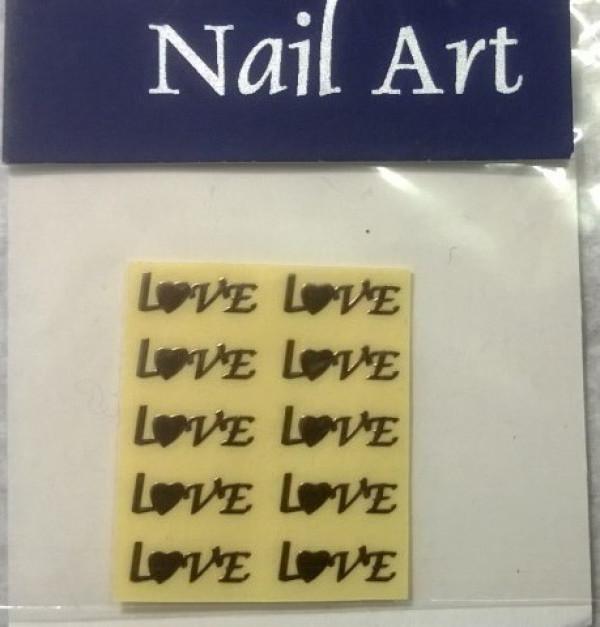 2D Foliotarra, kulta- Love, iso