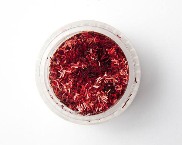 Punainen suikale glitteri