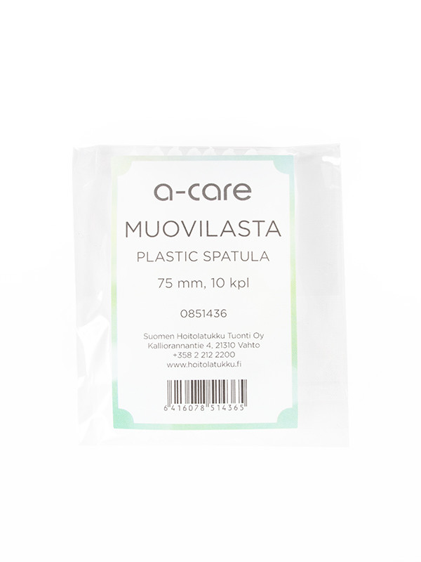 a-care muovilasta/spaatteli läpikuultava,10 kpl