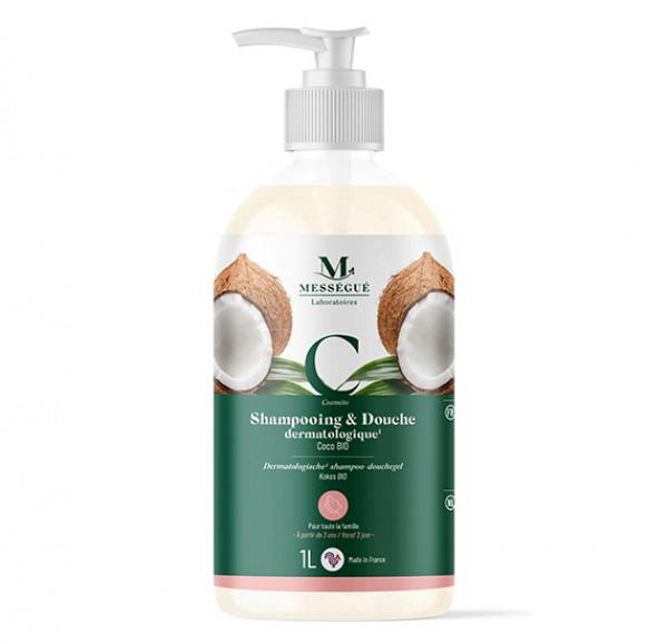 Messegue Kookos-shampoo ja suihkugeeli 1 l