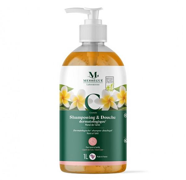 Messegue Monoi Tahiti, shampoo ja suihkugeeli 1 l