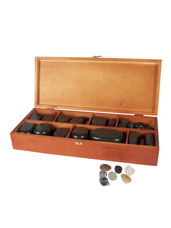 Kuumakivihieronta -setti , 64 kiveä