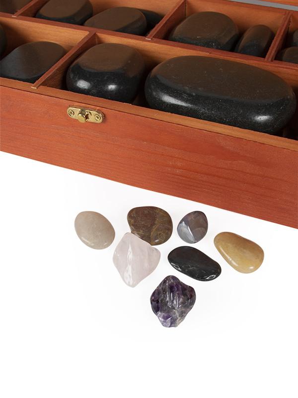 Kuumakivihieronta -setti 64 kiveä