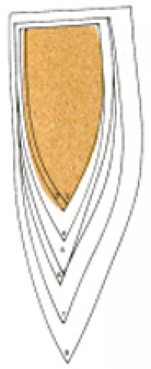 Supinaatioasennon korjaava kulmatuki,koko 8 (41-43