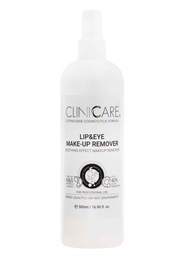 Cliniccare Silky Lip & Eye make-up remover 500ml