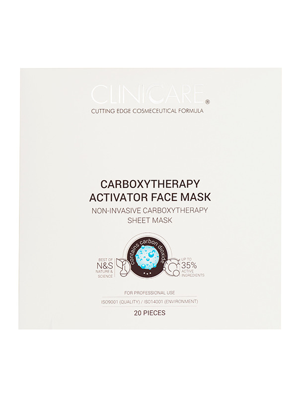 Cliniccare Carboxytherapy Activ. Face mask 20 kpl