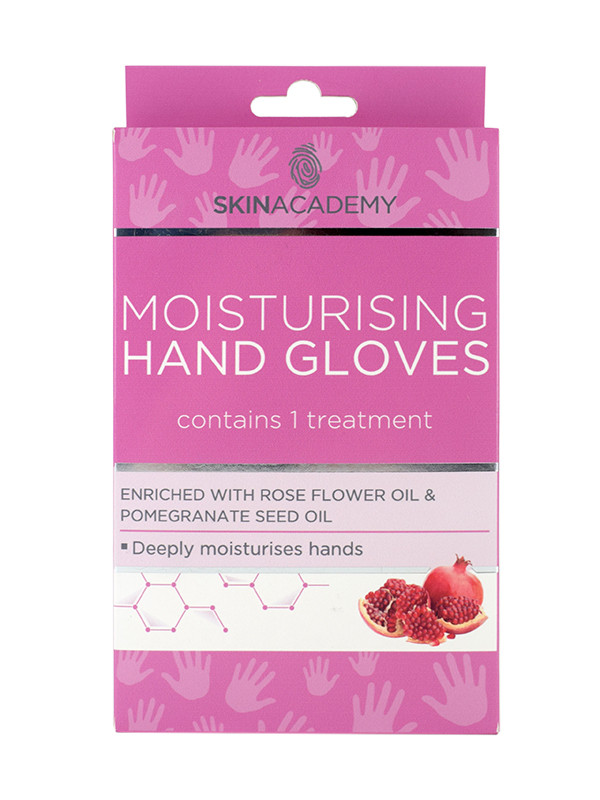 Skin Academy kertakäyttöiset kosteuttavat käsineet
