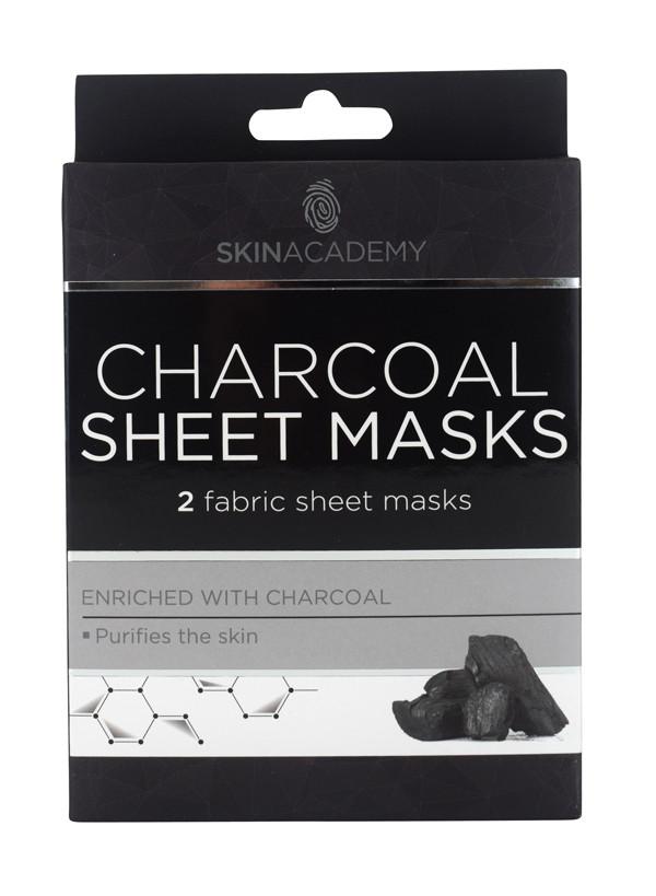 Charcoal kangasnaamio - epäpuhtaalle iholle 2 kpl