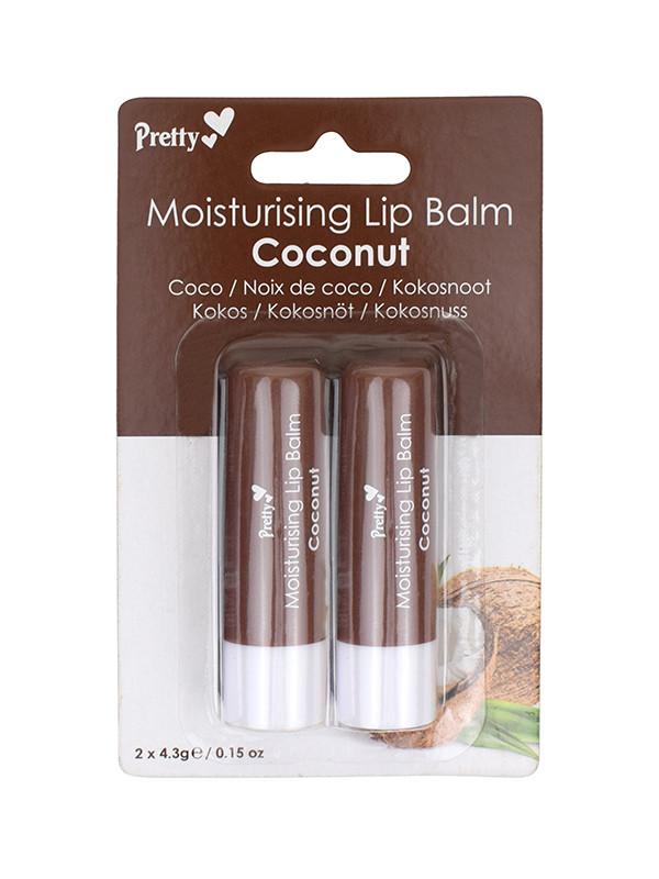 Pretty Moisturising Lip Balm - Coconut, 2x pack