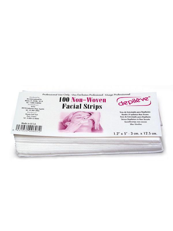 Depileve Facial Strips 100kpl  3cm x 12,5cm