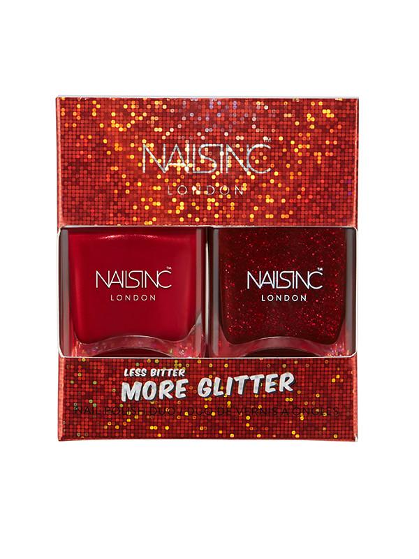 NailsInc kynsilakkapakkaus LessBitter More Glitter