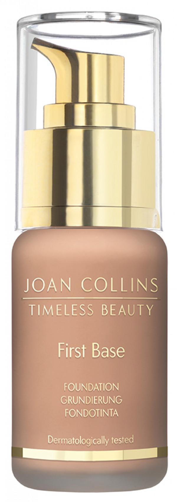 Joan Collins First Base Foundation, cool dark