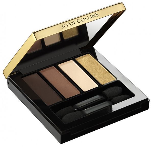Joan Collins Eyeshadow Quad, moody browns & gold