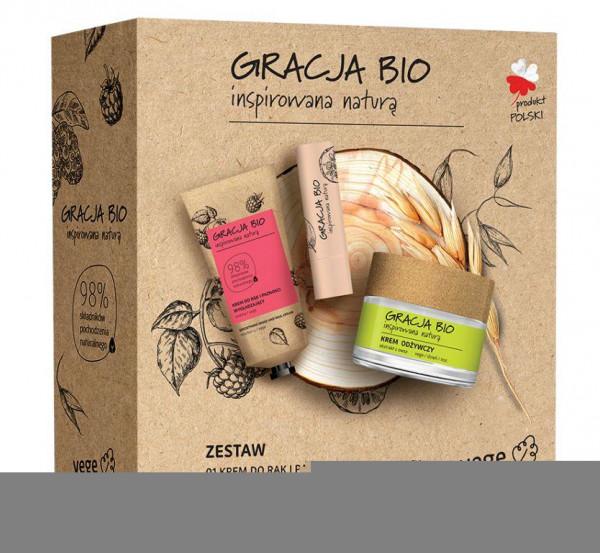 Gracja Bio lahjapakkaus kasvot, kädet ja huulet