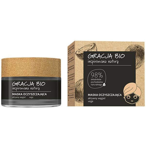 Gracja Bio Purifying face mask 50ml, aktiivihiili