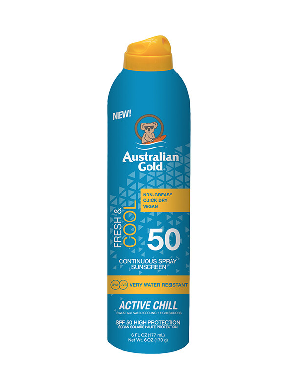 Australian Gold Cont Spra Acitiv Chill 177ml SPF50