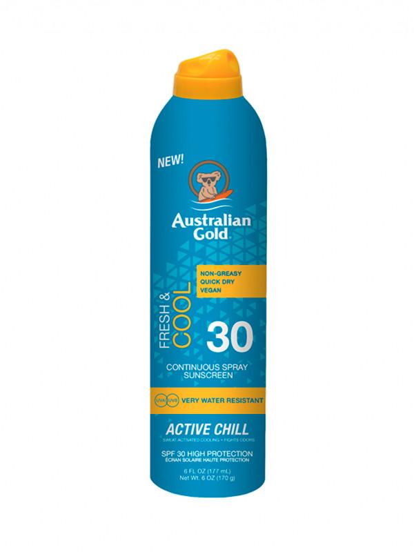 Australian Gold Cont Spra Acitiv Chill 177ml SPF30