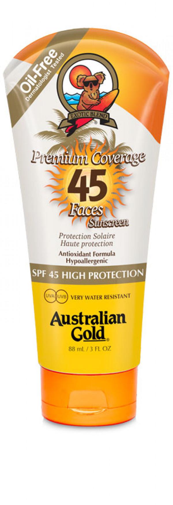 Australian Gold, Premium Coverage  SPF45 faces