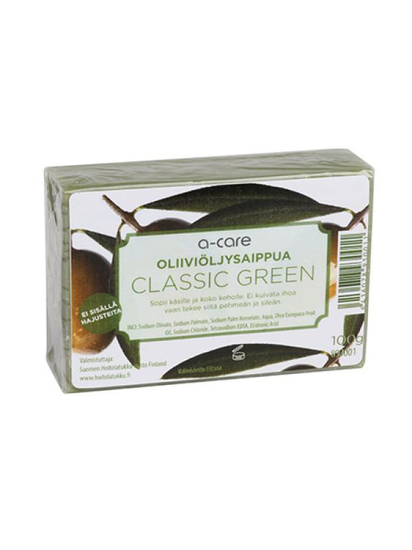 a-care oliiviöljysaippua 100g Classic Green