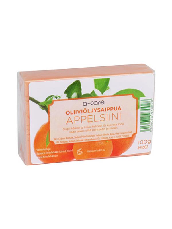 a-care oliiviöljysaippua 100g Appelsiini