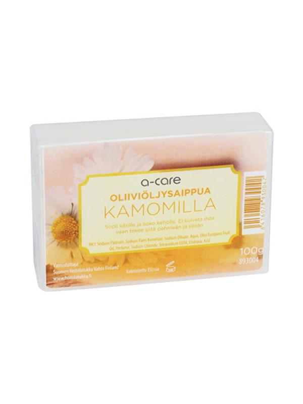 a-care oliiviöljysaippua 100g Kamomilla