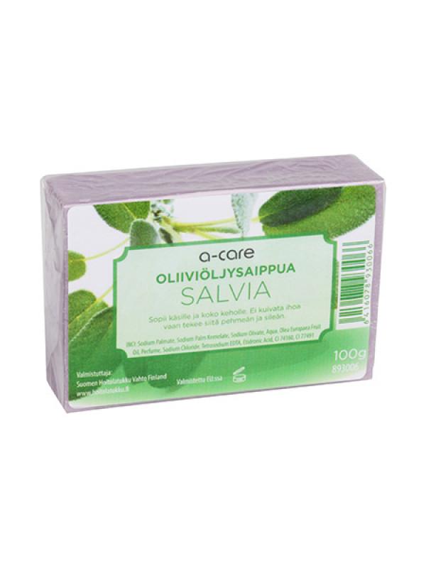 a-care oliiviöljysaippua 100g Salvia