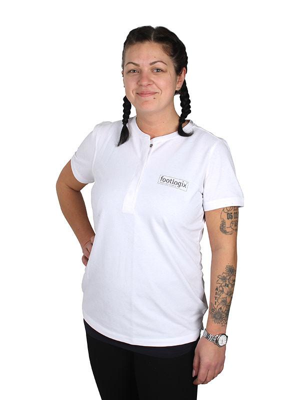 Footlogix t-paita, valkoinen koko S