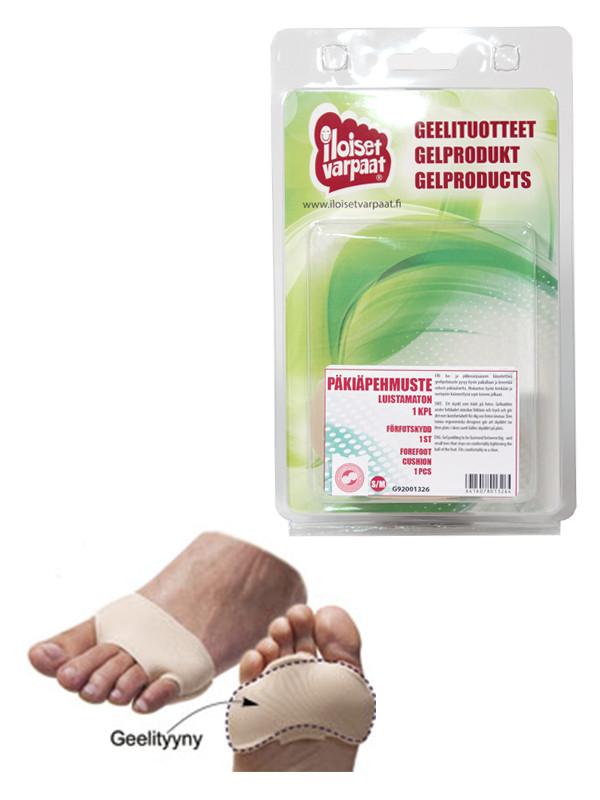Iloiset Varpaat - Luistamaton päkiäpehmuste L/XL
