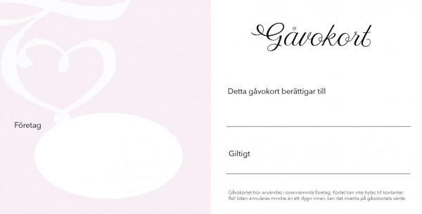 Lahjakortti  Kädet ja ruusut 10 kpl. Ruotsinkiel.